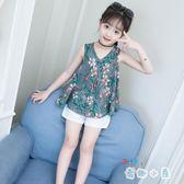 女童夏裝裝洋氣時髦兒童網紅兩件套韓版時尚【奇趣小屋】