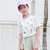 女童t恤短袖中大童上衣童裝2020兒童夏季新款洋氣寬鬆女孩薄款潮T TR1416『寶貝兒童裝』
