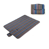 PUSH!戶外用品150*200透氣加厚防潮墊野餐墊P127藍條紋藍條紋