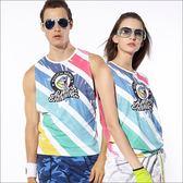 挖袖數位印花罩衫TA648(商品圖不含內搭/男女皆適宜) -百貨專櫃品牌 TOUCH AERO 瑜珈服有氧服韻律服