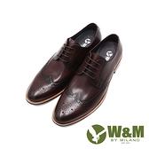W&M(男)經典木跟質感壓紋紳士正裝皮鞋 男鞋-咖(另有黑)