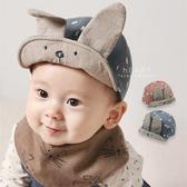 復古色大兔耳軟簷棒球帽