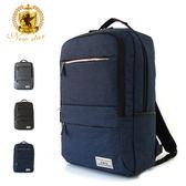 韓風簡約時尚防水雙層拉鍊口袋後背包包 NEW STAR BK238