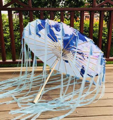 印花綢布傘古典拍照道具古裝