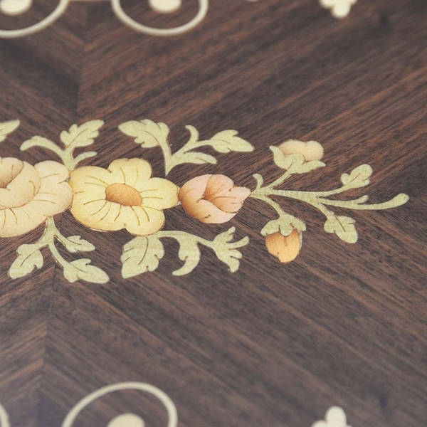 義大利GIGLIO ASLA 花梨木鑲嵌42*23cm手把托盤