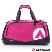 Backbager背包族【美國 AIRWALK】大個子 運動家專用超大尼龍旅行袋(桃紅)