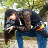 相機腰帶 登山攝影腰帶單反相機固定腰帶微單騎行腰包掛帶攝影配件器材卡扣【美物居家館】