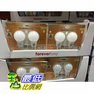 [COSCO代購] FOREVERLAMP 13W LED LIGHT BULB 2PK 13W LED 廣角光全塑殼燈泡 _C103003