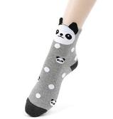 韓國女襪 可愛動物長襪 立體耳朵 企鵝 熊貓 柴犬 貓咪 熊熊襪子