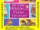 二手書博民逛書店英文原版罕見My Little Rhyme and Verse Terse Treasury 童謠童詩合集 Eri
