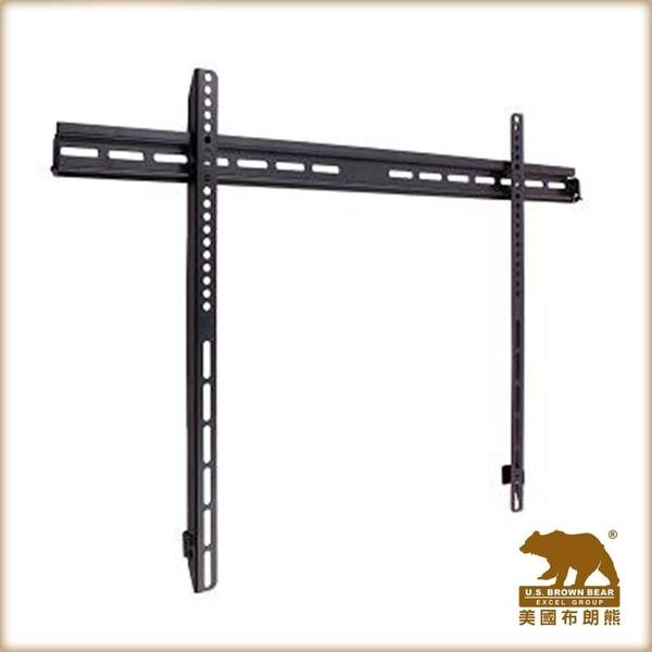 【第一代商品出清】美國布朗熊 W9-63F(黑) 牆板固定式電視壁掛架