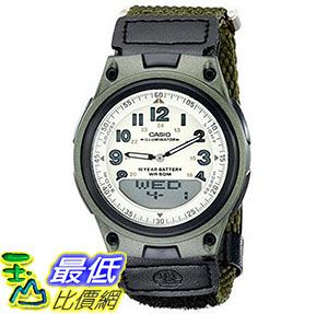 [美國直購] 手錶 Casio Men s AW80V-3BV World Time Ana-Digi Data Bank 10-Year-Battery Watch