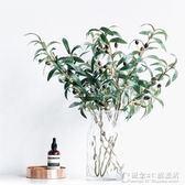 單支橄欖枝仿真橄欖果植物綠色客廳插花裝飾假花落地簡約清新歐式.igo 概念3C旗艦店