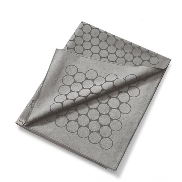 Agoy 瑜珈鋪巾 壁虎鋪巾抗菌銀離子(圈圈款) - 月光灰 (送防水收納袋)