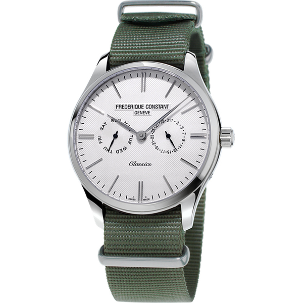 康斯登 FREDERIQUE CONSTANT Classics Quartz 百年經典Day-Date腕錶 FC-259ST5B6