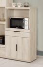 【森可家居】塔利斯2尺收納櫃 8CM900-3 餐櫃 廚房櫃 碗盤碟櫃 木紋質感 無印 北歐風