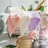 兒童方巾4條裝小毛巾寶寶口水巾柔軟比純棉吸水嬰兒洗臉巾加厚