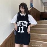 bf風T恤女夏季2020年新款韓版洋氣中長款寬鬆打底衫外穿無袖上衣 米娜小鋪