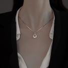 項鍊 925純銀項鍊女2021年新款潮小眾設計感2021毛衣鍊配飾高級鎖骨鍊 晶彩 99免運