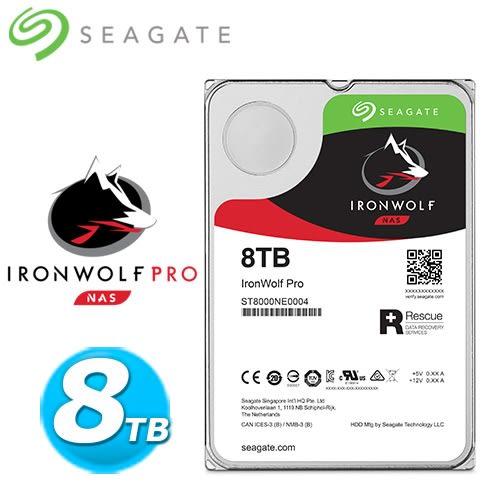 Seagate 那嘶狼【IronWolf Pro】8TB 3.5吋 NAS硬碟 (ST8000NE0004)