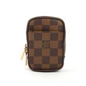 【LV】咖啡棋盤格拉鏈小零錢包LV24000032