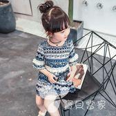 女童夏裝2018新款3童裝4女孩雪紡裙子5寶寶洋氣6歲兒童公主連身裙