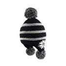 [Polar Star] (女) 雪花造型針織保暖帽 黑 (2290P15624709)