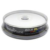 ◆免運費◆DataStone 空白光碟片 超A+ 藍光 Blu-ray 6X BD-R DL 50GB 珍珠白滿版可印片 10P布丁桶X1