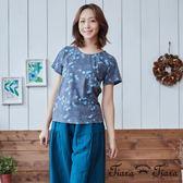 【Tiara Tiara】海洋元素x格紋短袖上衣(白/藍)
