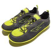 HI-TEC Zuuk M 絲瓜鞋 戶外專用品牌 黃 灰 輕量休閒鞋 男鞋【PUMP306】 O002333053