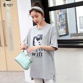 胖mm仙女人2019春夏裝韓版新款大尺碼 女裝洋氣上衣顯瘦減齡短袖T恤