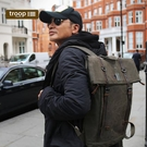 【TROOP】傳統簡約HERITAGE雙肩包/TRP0425DB(深棕色)