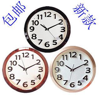 康巴絲14英寸靜音鐘表(紫銅金)