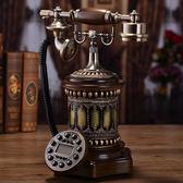 實木歐式復古電話機家用座機美式仿古電話時尚創意辦公固定電話機 生活樂事館
