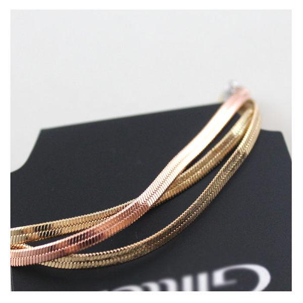 star 日韓系列 -歐美外貿原單飾品 品牌質感混色銅鏈多層手鏈-D147