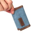 帆布錢包男士短款潮男款日創意錢夾