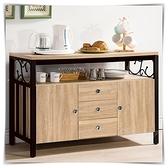 【水晶晶家具/傢俱首選】ZX1538-4鋼尼爾4尺餐櫃/文件收納櫃