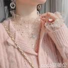 熱賣蕾絲打底衫 蕾絲打底衫女網紗長袖內搭超仙小衫新款洋氣網紅很仙的上衣【618 狂歡】