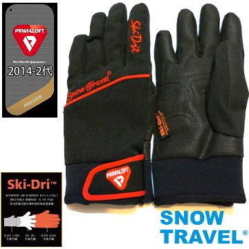 [SNOW TRAVEL] AR-67 軍用PRIMALOFT-GOLD+特戰SKI-DRI防水保暖合身型手套/黑色/L號/日韓限量版