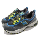 New Balance 越野跑鞋 801 灰 藍 黃 戶外 NB 男鞋 潑墨底 【ACS】 ML801GLCD