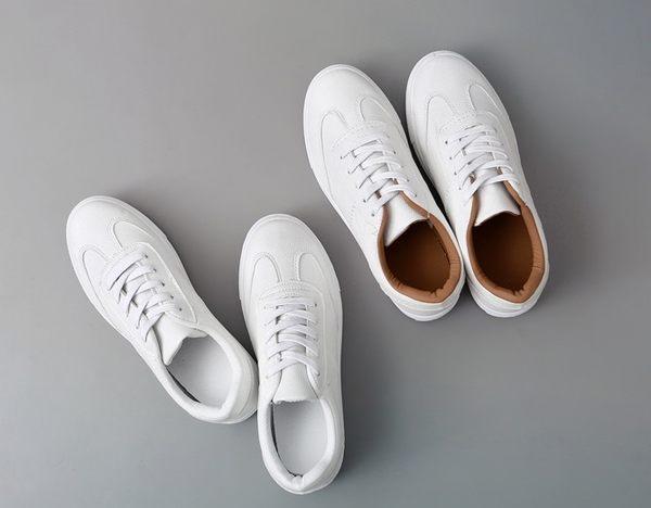 """ZUCA""""S - 百搭小白鞋繫帶平底鞋 - NN-9955"""