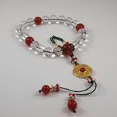 延禧攻略富察皇后同款 十八子 白水晶紅瑪瑙 手串 手珠 手掛件『現貨』