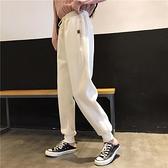 牛奶絨褲子束腿加絨運動褲夾棉哈倫褲蘿卜褲女秋冬學生寬鬆衛褲 【端午節特惠】