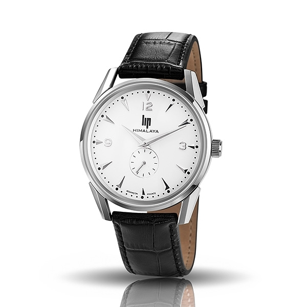 【lip】Dauphine時尚質白面皮革石英腕錶-黑銀款/671240/台灣總代理公司貨享兩年保固