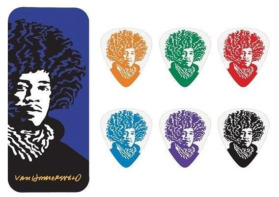☆ 唐尼樂器︵☆ DUNLOP Jimi Hendrix 大師彩色肖像紀念 Pick 彈片典藏盒