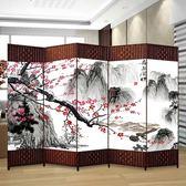 訂製屏風房間隔斷墻臥室移動推拉伸縮客廳小戶型簡約現代客廳省空間  IGO