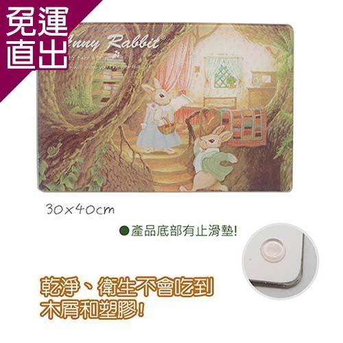安妮兔 強化玻璃砧板-森林029Y-200L【免運直出】
