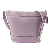 【COACH】馬車LOGO皮革桶型斜背包(小)(紫色) F76668 SVLL