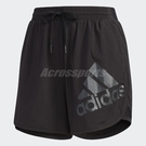 adidas 短褲 Shorts Boston 女款 運動褲 慢跑褲 素面 大LOGO 黑 【ACS】 DY8664