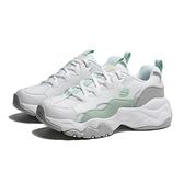 SKECHERS 休閒鞋 D' LITES 3 白綠 皮革 厚底 老爹鞋 女 (布魯克林) 88888210WMNT